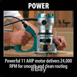 Makita RF1101 Fixed Base Router 11 Amp Variable Speed Motor 2 1/4 HP Compact