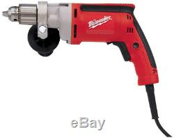 Milwaukee Magnum Drill 1/2 in. 850 RPM 8 Amp Motor Variable Speed Trigger Corded