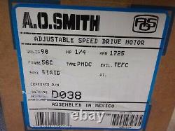 New A. O. Smith 22210200 Variable Speed D038 DC Motor, 1/4HP, 1725 RPM