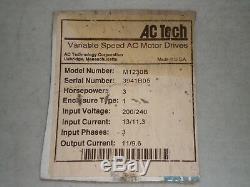New! AC Tech M1230B Variable Speed AC Motor Drive VFD Input 200/240 VAC, 3 PH