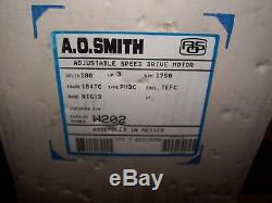 New Ao Smith 3 HP Variable Speed DC Motor 180 VDC 1750 RPM 184tc Frame W202