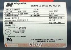 New Magnetek 22242600 Variable Speed +DC Motor 1.2 KW 72 VDC 1200 RPM