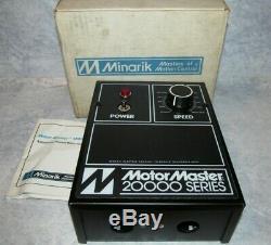 New Minarik Motor Master 20000 DC Drive, Variable Speed Motor Control MM23101A