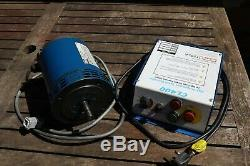 Newton Tesla CL400 variable speed controller, 1/2HP 3Ph motor. Fits Myford lathe