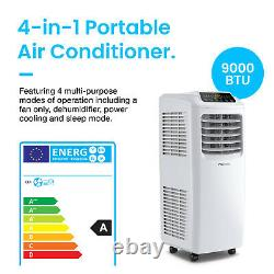 Pro Breeze 4-in-1 Portable Air Conditioner 9000 BTU with Remote Control