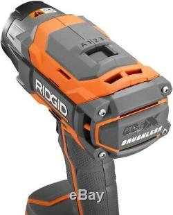 RIDGID Impact Wrench Kit 18-Volt Lithium-Ion Brushless Motor Variable Speed