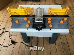 Rutlands router table with variable speed motor and extra tongue and groove bit