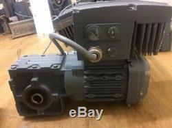SEW motor gearbox and inverter 0.55kw, Variable ouput speed 44 to 290 RPM