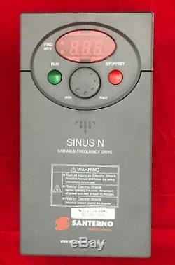 Santerno SINUS N 0001 2S XIK2 Variable Frequency/Speed Drive 3 Phase Motor