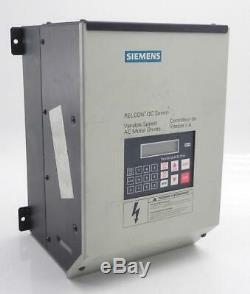 Siemens Variable Speed 230 Vac 7.5 Hp AC Motor Drive AQ12008B