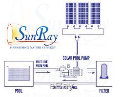 Solar Powered Pool Pump SolFlo1 with 3 Solar Panels 1HP DC Pool Pump Motor USA