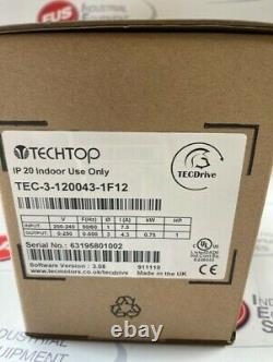 TECHTOP TEC-3-120043-1F12 Motor Variable Speed Drive 0.75kWith1Hp
