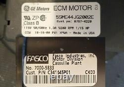 TUY100R9V4V3 C341445P01 5SME44JG2002E 7000-5833 American Standard draft inducer