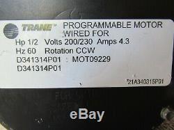 Trane American Standard 1/2hp Variable Speed Motor D341314P01 MOT09229