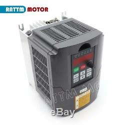 UK 4HP 220V 3KW VFD Variable Frequency Driver Inverter Motor Speed Converter