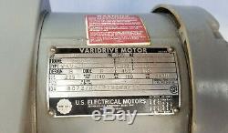 US MOTORS 1/2 HP VARIDRIVE VARIABLE SPEED REDUCER 1/2HP 3PH 1900 to 190 RPM
