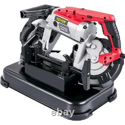 VEVOR Variable-Speed 220V Deep Cut Portable Band Saw 10-Amp Motor with Alloy Base