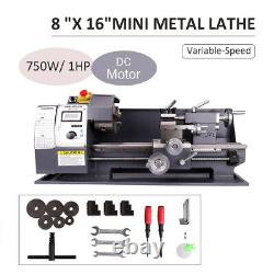 Variable-Speed DC Motor 750w Automatic milling Mini Metal Lathe 8x16