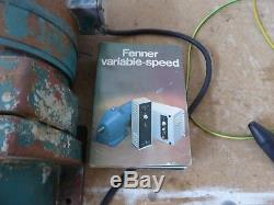 Variable speed Electric motors and gearboxs x 3