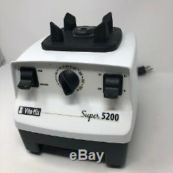 Vitamix Super 5200 Blender Variable Hi Speed White Motor VM0103 USA Base EUC
