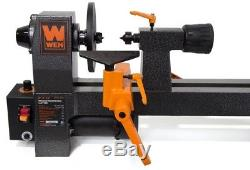 WEN Benchtop Wood Lathe 8 in. X 12 in. 2 Amp Motor Adjustable Variable Speed