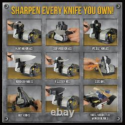 Work Sharp Knife And Tool Sharpener Adjustable Angle Guide Variable Speed Motor