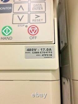 Yaskawa Varispeed E7 CIMR-E7U47P5 Variable Speed Motor Drive 480VAC, 3-Phase
